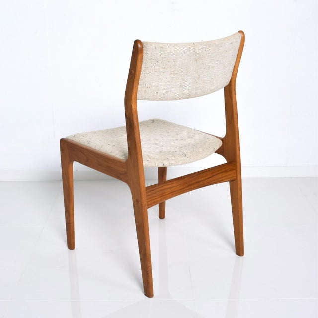 Benny Linden Mid-Century Danish Modern Teak Dining Chairs - Set of 4 For Sale In San Diego - Image 6 of 11