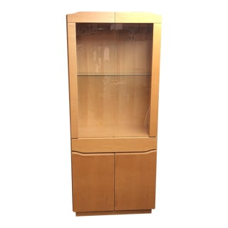 Skovby Danish Lighted Maple Display Cabinet