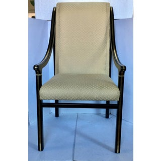 1970's Mastercraft Dining Chairs, Black and Brass, Set of Six Preview