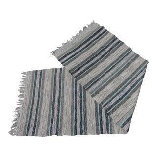 Swedish Vintage Hand Woven Rag Rug - 2′5″ × 7′5″