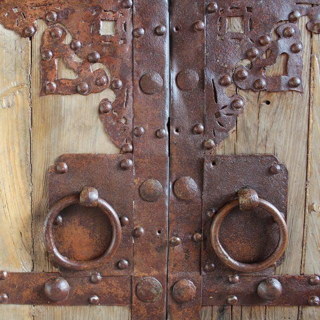 Antique Chinese Wood & Iron Door - Image 2 of 4