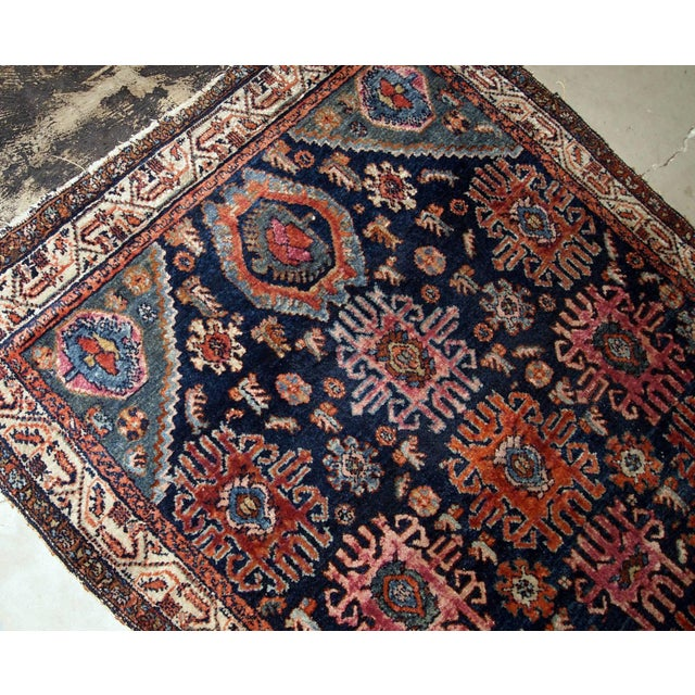 1910s, Handmade Antique Persian Malayer Rug 4.1' X 6.3' For Sale - Image 9 of 11