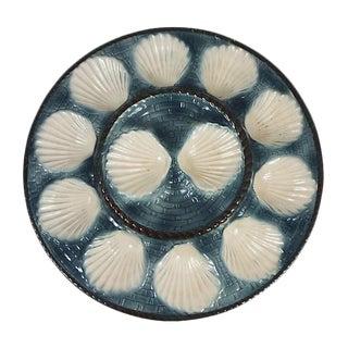 1930s Majolica Oyster Platter