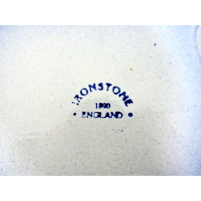 Antique 1890's English Blue and White Ironstone Wash Bowl For Sale In Tampa - Image 6 of 7