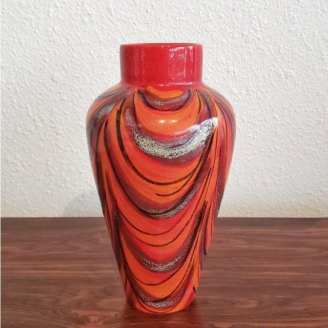 Red Vintage Vase by Alvino Bagni For Sale - Image 8 of 9