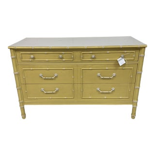 1970s Regency Thomasville Faux Bamboo Chest For Sale