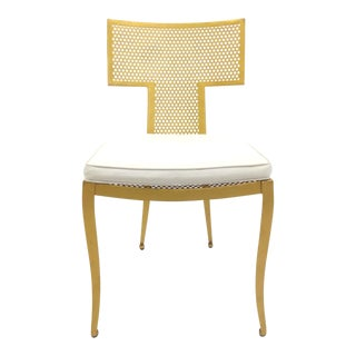 Made Goods Gold Chair With Cushion For Sale