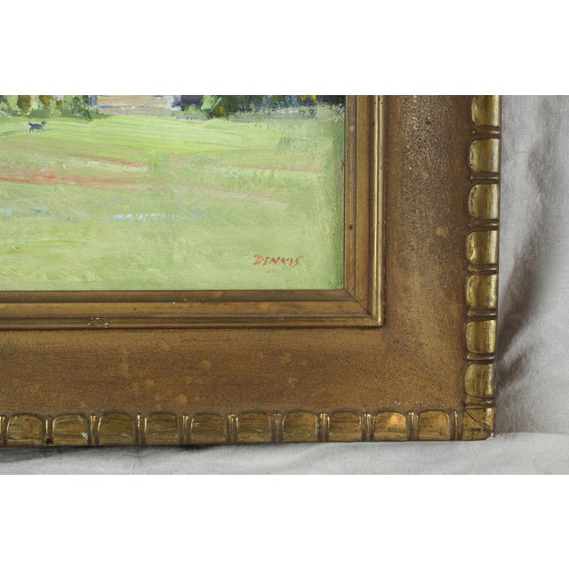 Impressionism Vintage Mid Century Waterford Park Painting by Roger Dennis For Sale - Image 3 of 6