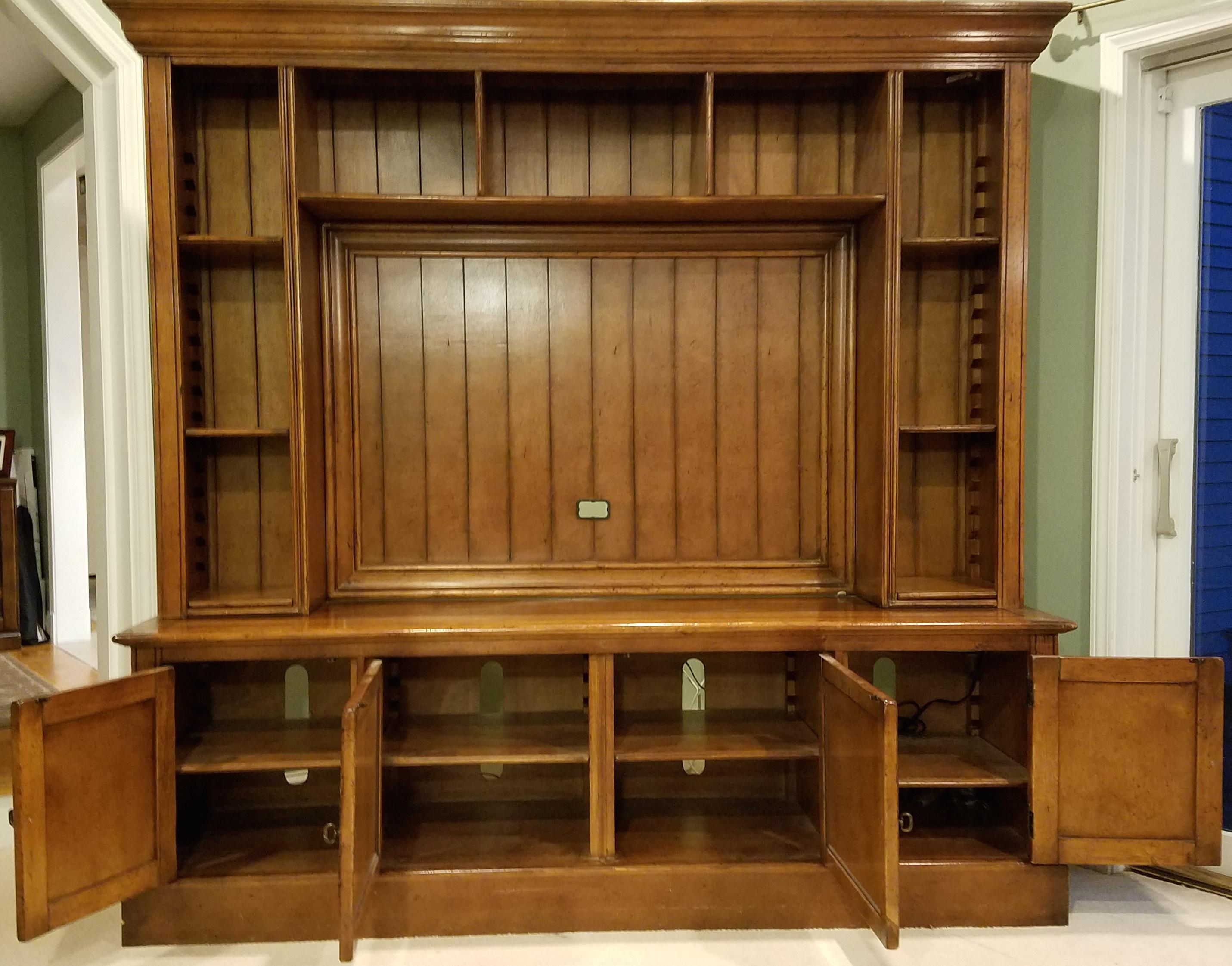 hooker furniture entertainment center. Stickley Hooker Furniture Entertainment Center / Hutch - 2 Pc. Image Of 9
