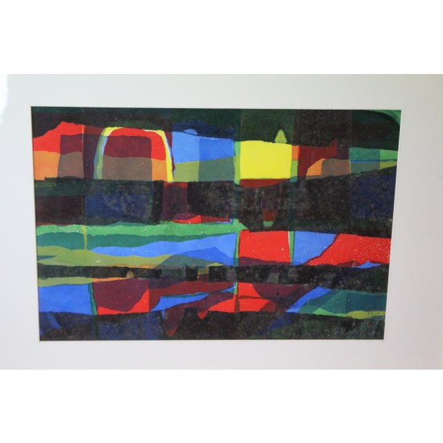 Abstract Framed Rainbow Print For Sale - Image 4 of 8