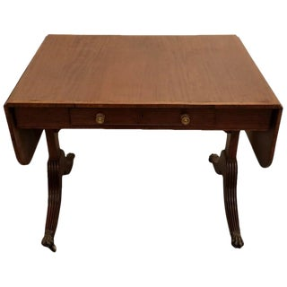 18th Early 19th Century English Regency Drop-Leaf Writing Table For Sale