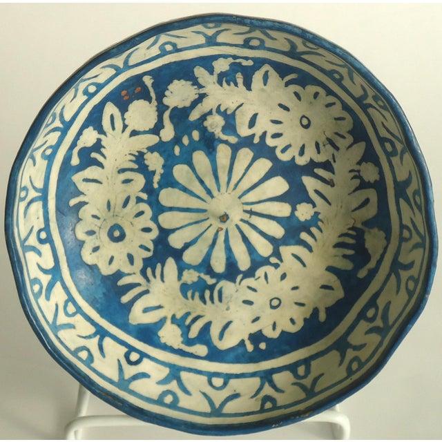 Folk Art Painted Gourd Bowl - Image 5 of 8