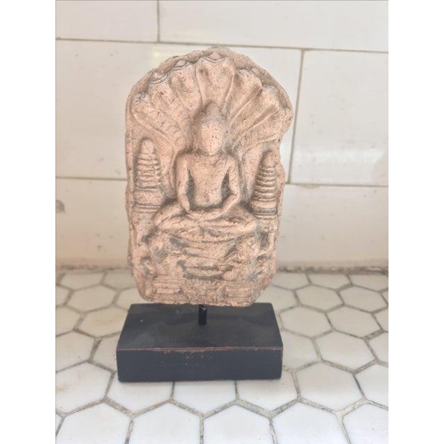 Burmese Buddha Amulet on Stand - Image 2 of 7