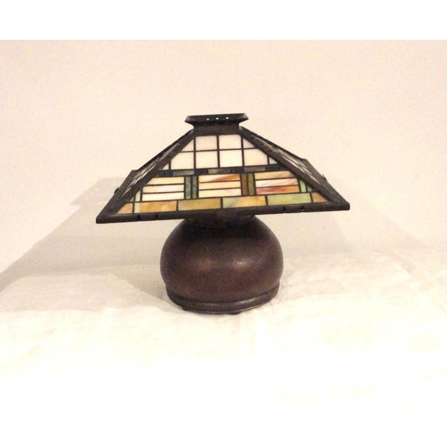 Fantastic Bronze Signed Arts & Crafts Table Lamp - Image 2 of 7
