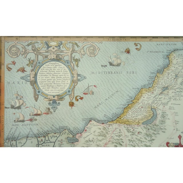 Traditional Vintage Print of Antique Palestine & Syria Map For Sale - Image 3 of 5
