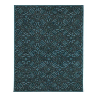 Mediterranean Updated Traditional Geometric Hand Tufted Rug - 5' x 8'