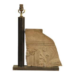 19th Century Marble Fragment Table Lamp For Sale