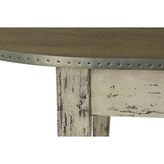 Country Christine Rounded Oak Dining Table For Sale - Image 3 of 4