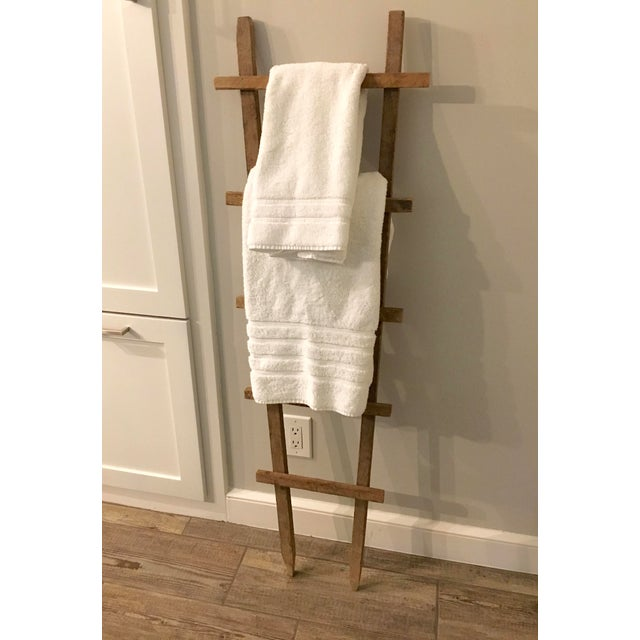 1940s Vintage Tobacco Drying Stick Ladder For Sale - Image 5 of 7