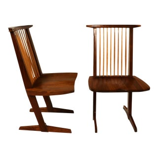 George Nakashima Conoid Chairs - A Pair For Sale