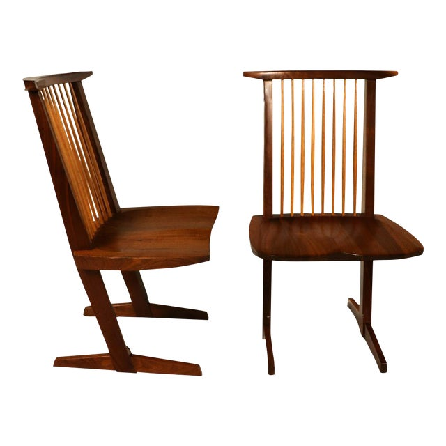 George Nakashima Conoid Chairs - A Pair - Image 1 of 11