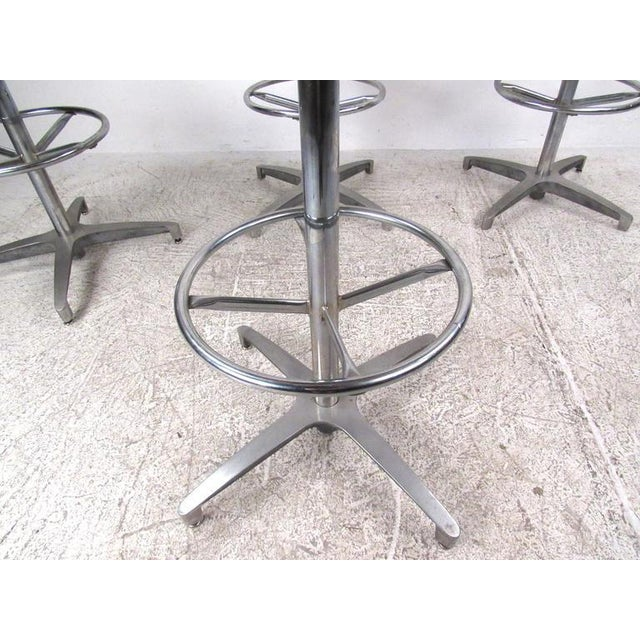 Mid-Century Lucite and Vinyl Bar Stools by Chrome Craft - Image 7 of 11