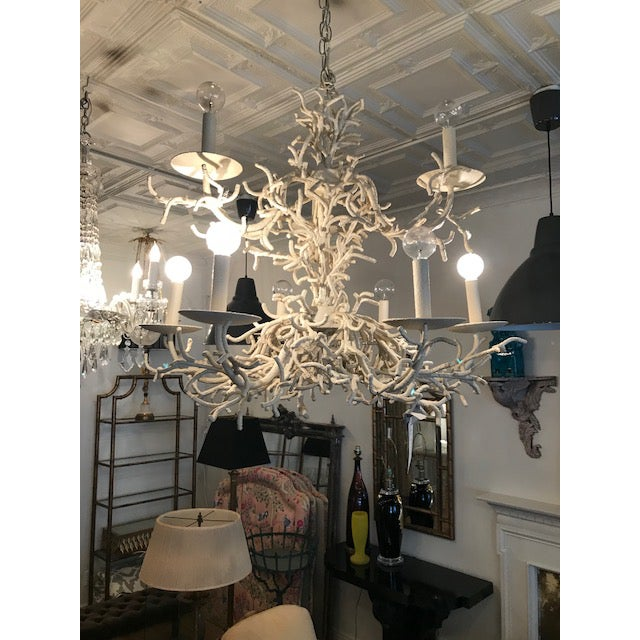 Vintage Faux Coral Chandelier - Image 8 of 10