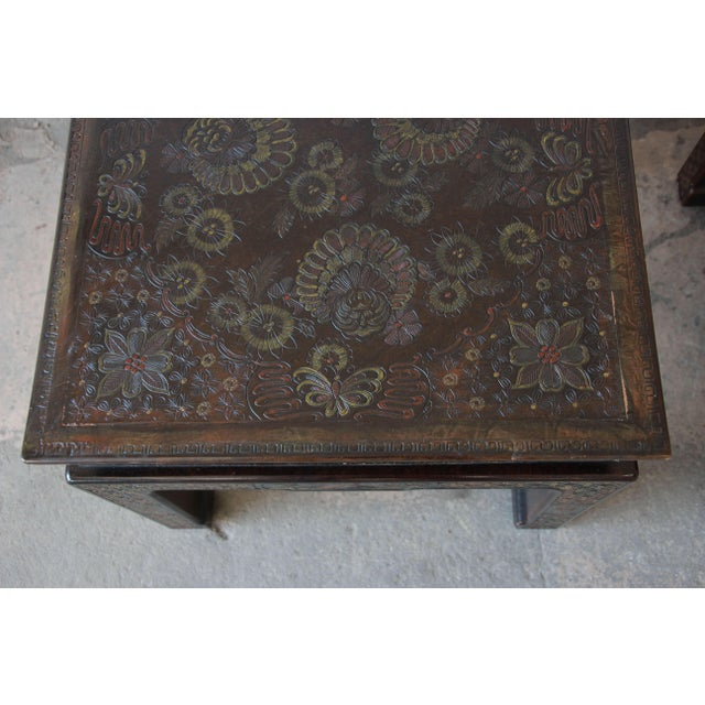 Shell John Widdicomb Asian Faux Tortoise Shell End Tables - a Pair For Sale - Image 7 of 11