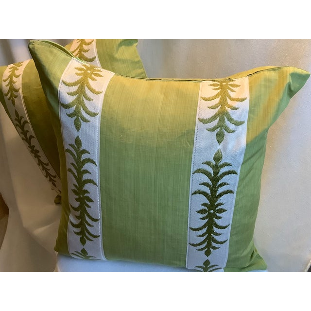 Contemporary Contemporary Pillow Covers in Clarence House Fabric - A Pair For Sale - Image 3 of 10