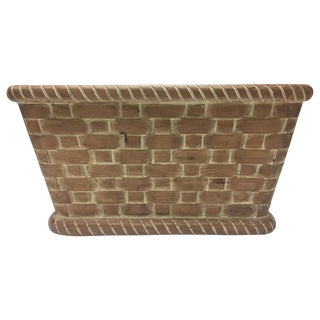 Hand Carved Wall Mounted Wooden Basket For Sale