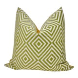 Image of Bassett McNab Company Washed Chenille and Boucle Square Pillow For Sale