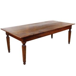 18th C. Italian Cherry Farm Table For Sale