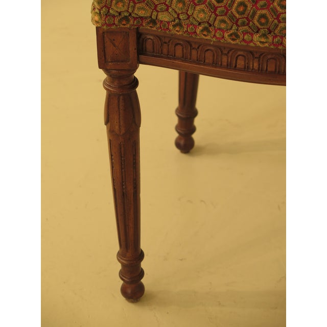 French Louis XV Carved Walnut Dining Room Chairs - Set of 8 For Sale - Image 4 of 13