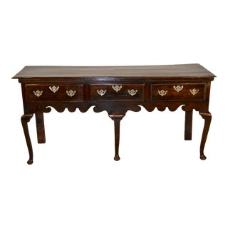 18th Century English Oak Sideboard For Sale