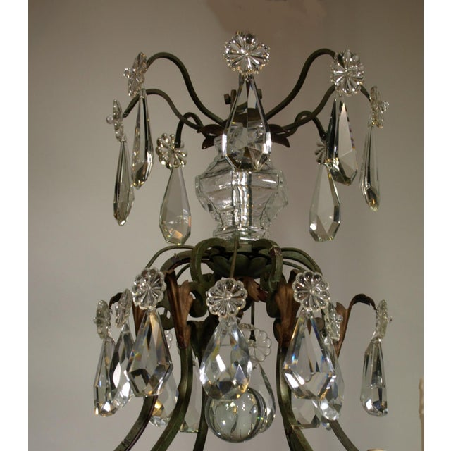 Antique Chandelier of Iron and Crystal - Image 3 of 6