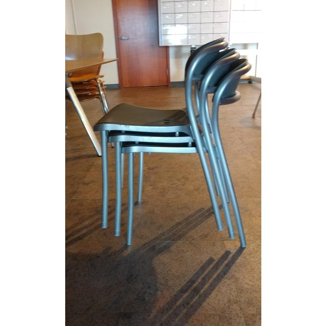 Arper Pamplona Aluminum Chairs - Set of 10 - Image 6 of 7