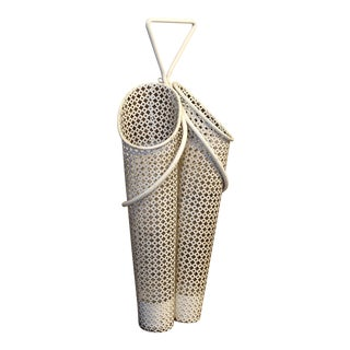 1950s Vintage Mathieu Matégot Wall-Mounted Umbrella Stand For Sale