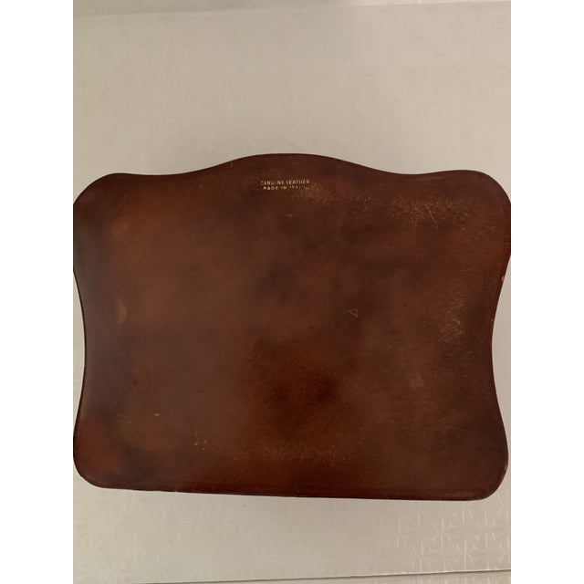 Leather Vintage Italian Leather Men's Jewelry Box For Sale - Image 7 of 9