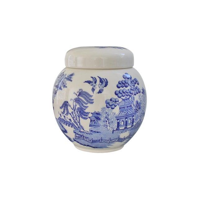 Sadler Antique Blue Willow Ginger Jar Chairish