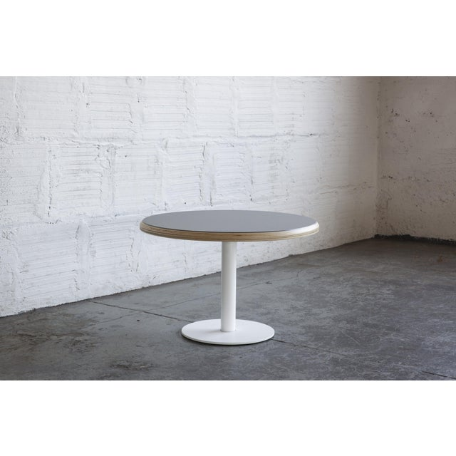 This new addition to our showroom is a sleek and simple solution to a side table. Customize yours in any powder-coated...