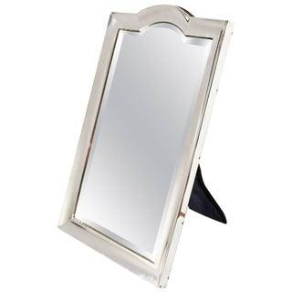 Edwardian Sterling Silver Vanity Mirror For Sale