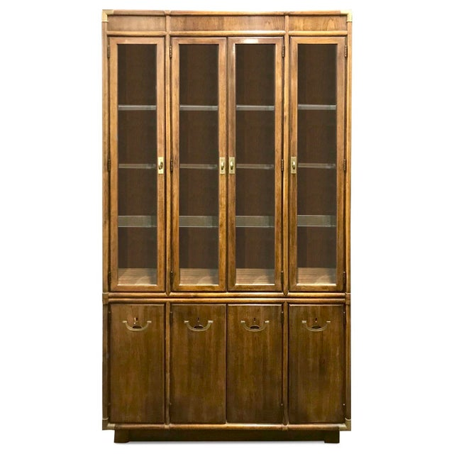 Drexel Accolade Campaign China Cabinet For Sale - Image 12 of 12