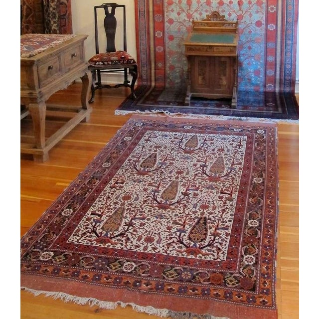 Blue Persian Afshar Tribal Rug For Sale - Image 8 of 8