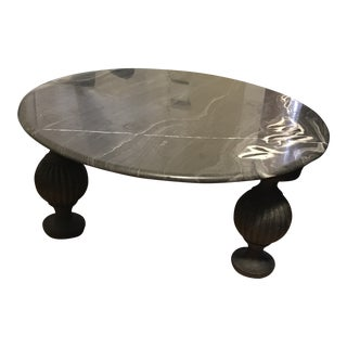 Contemporary Anthropologie Caria Marble Coffee Table For Sale