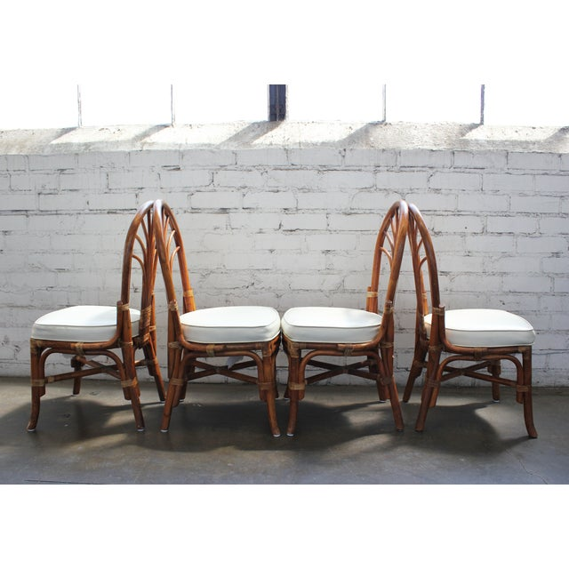 Vintage Rattan Dining Chairs - Set of 4 - Image 3 of 10