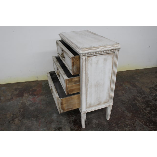 Metal 20th Century Vintage Swedish Gustavian Style Nightstands - a Pair For Sale - Image 7 of 11