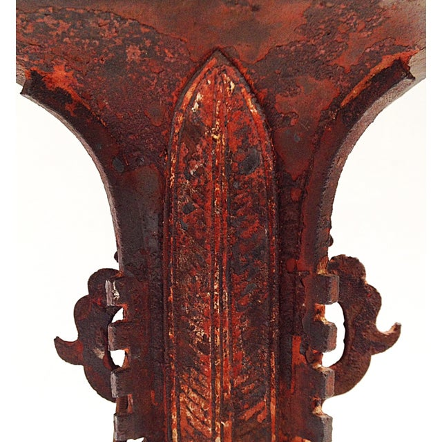 Qing Dynasty Iron Gu Vase Lamps - Pair - Image 6 of 11