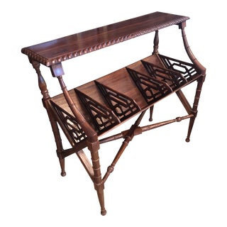Chinoiserie Faux Bamboo Book Trough Console Table For Sale