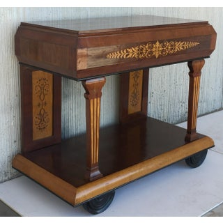 1830s French Empire Marquetry Console Table in Rosewood and Maple Preview