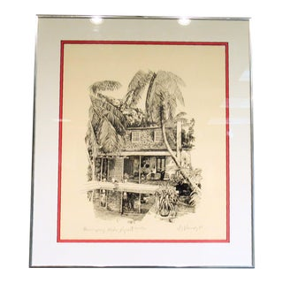 Hemingway's Studio Print For Sale